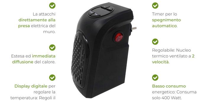 handy heater pro caratteristiche tecniche